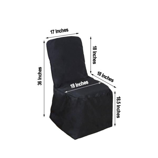 Polyester Square Back Chivari Banquet Chair Cover - Black CHAIR_SQUA_BLK