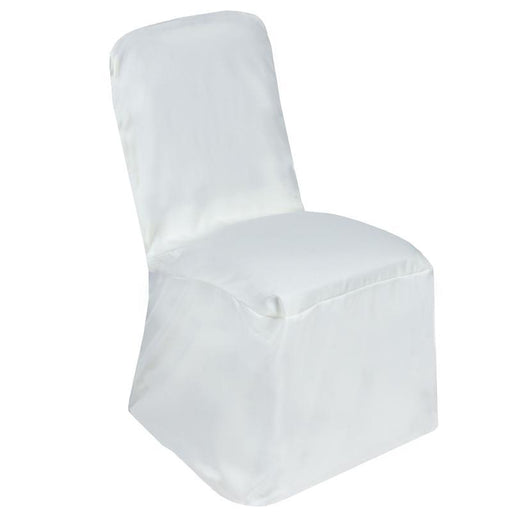 Polyester Square Back Chivari Banquet Chair Cover - Ivory CHAIR_SQUA_IVR