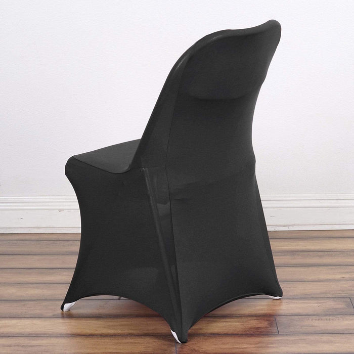 Spandex Folding Chair Cover Wedding Party Decorations - Black CHAIR_SPFD_BLK