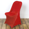 Spandex Folding Chair Cover Wedding Party Decorations - Red CHAIR_SPFD_RED