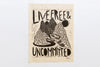 Live Free and Uncommitted Woodcut Print