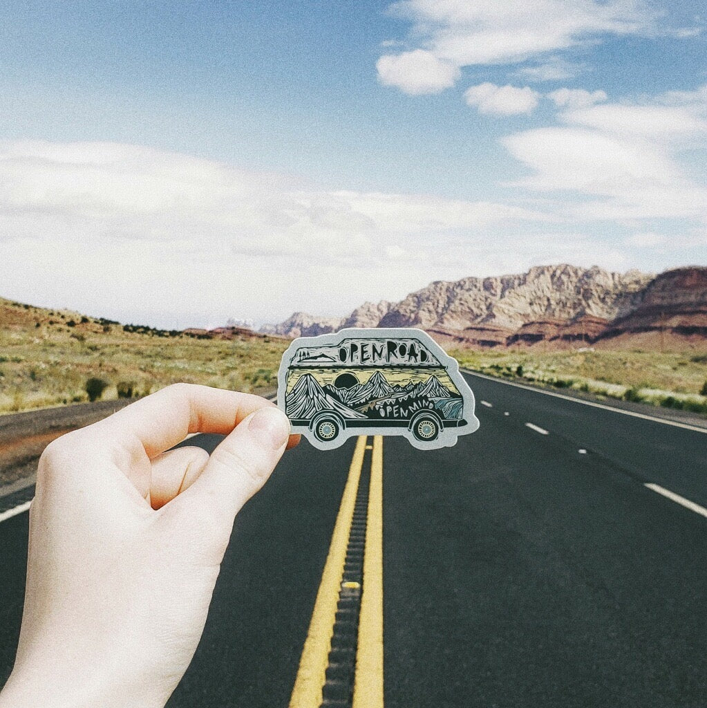 Open Road Sticker