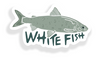 White Fish Sticker