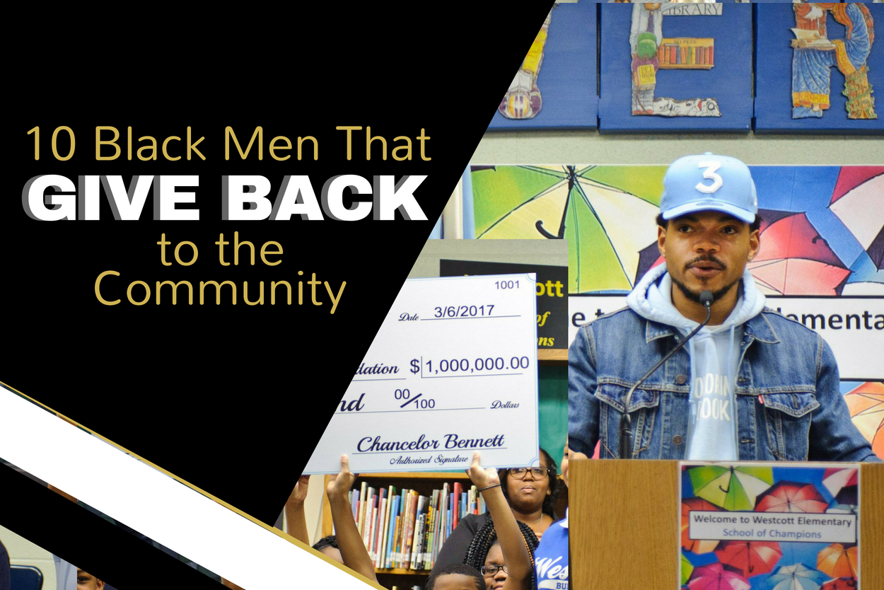 10 Black Men That Give Back to the Community