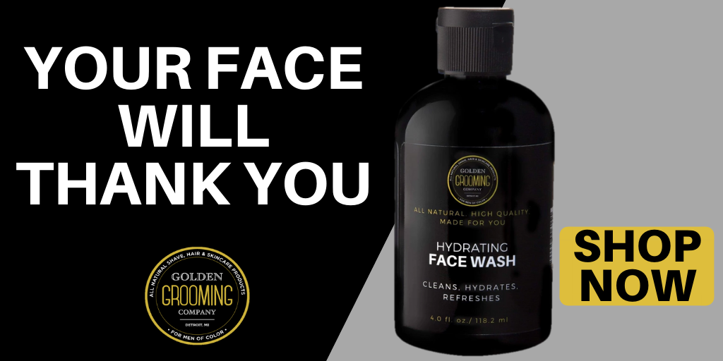 Natural face wash for black men