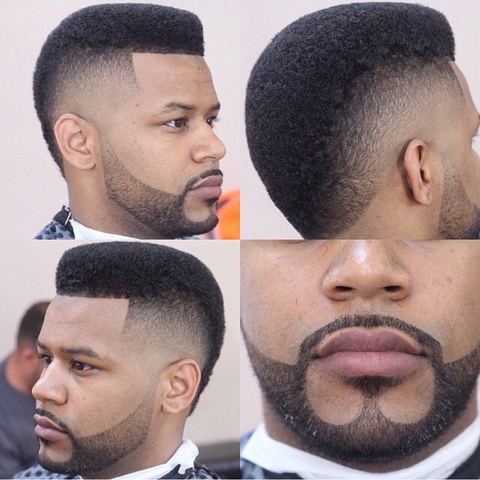 anchor beard style for black men
