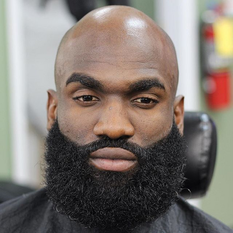 bald head beard style for black men