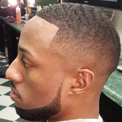 chin strap beard style for black men