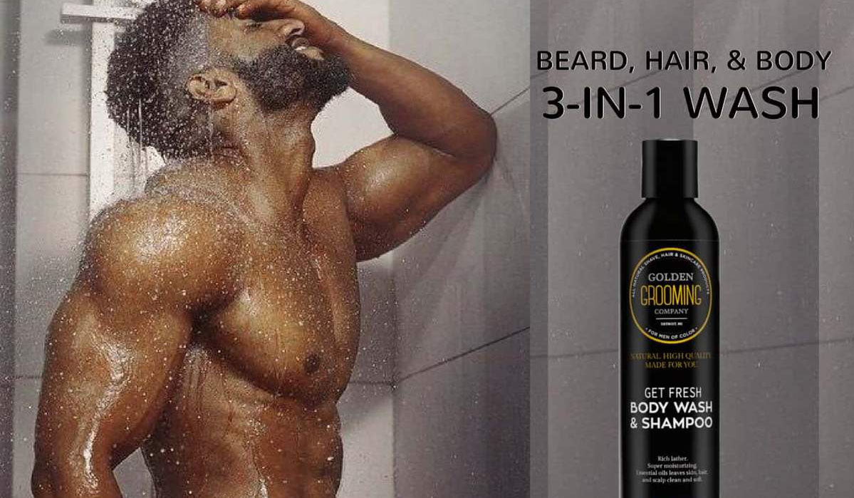 3-in-1 triple natural body wash and shampoo can be used to clean and hydrate hair, body, and beard