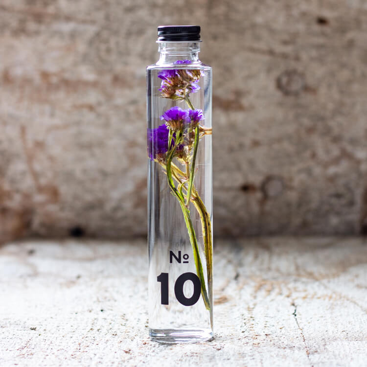 JAPANESE modern herbarium bottle DEAR ONE collection #10 comes with rich purple Statice