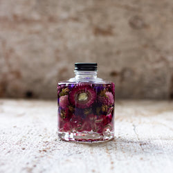 A bottle in Flower Haze collection is the art of a thousand petals and comes in Burgundy tones.