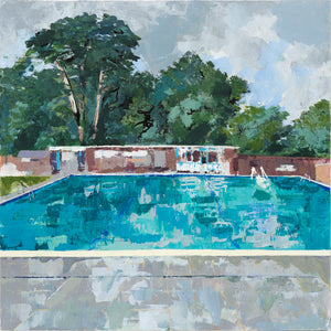 'Pells pool, and then it flooded' original *SOLD*