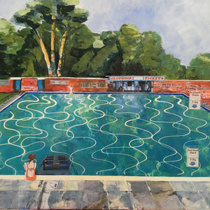 Homage to Pells pool and Hockney *SOLD*