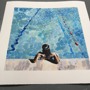 'Contemplating the water' limited edition giclée print