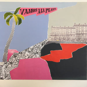 'Vamos a la playa' original collage