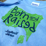 Born & Raised Baby Onesie - Baby Blue