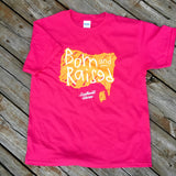 Girls Born & Raised Chalk Tee