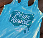 Load image into Gallery viewer, Ladies Born & Raised Racerback Tank