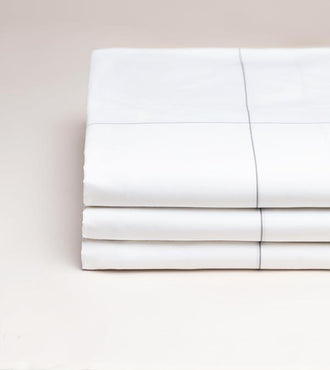 Drap plat percale Carreaux