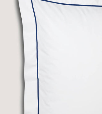 Set de 2 taies d'oreillers bourdon percale Bourdon bleu