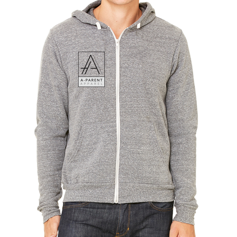 Custom Unisex Full-Zip Fleece Hoodie