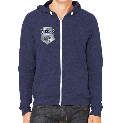 Gladiators Platinum Logo Full-Zip Fleece Hoodie