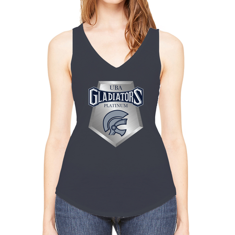 Gladiators Platinum Flowy V -Neck Tank