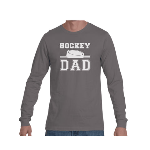 Hockey Dad Triblend Long Sleeve Tee