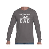 Swim Dad Triblend Long Sleeve Tee