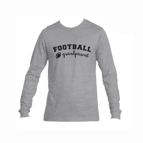 Football Grandparent Triblend Long Sleeve Tee