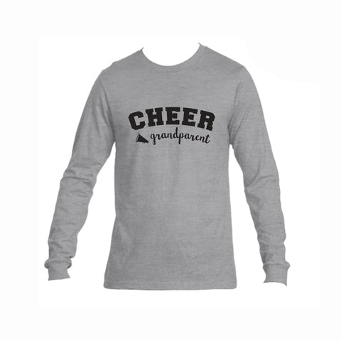 Cheer Grandparent Triblend Long Sleeve Tee