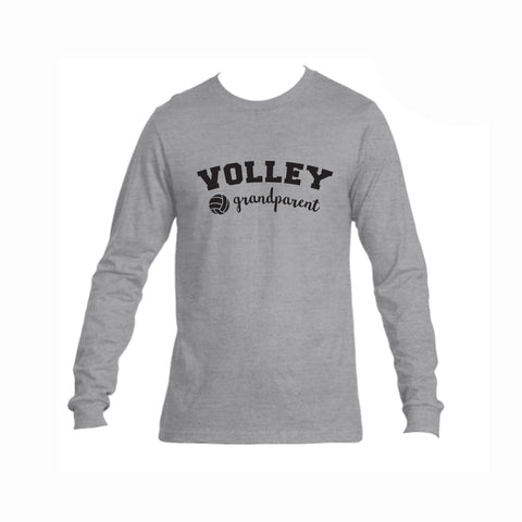 Volleyball Grandparent Triblend Long Sleeve Tee