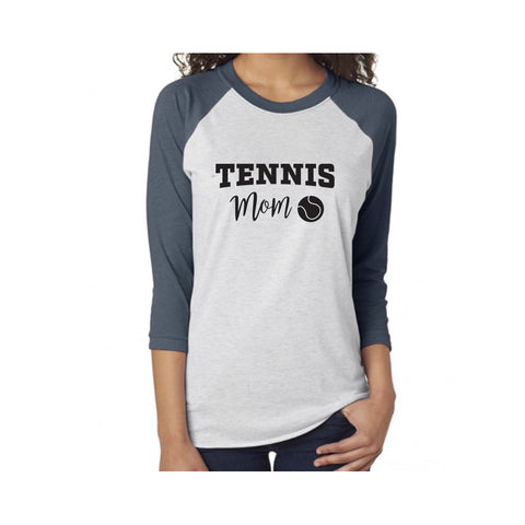 Tennis Mom V2 Tri-Blend 3/4-Sleeve Tee