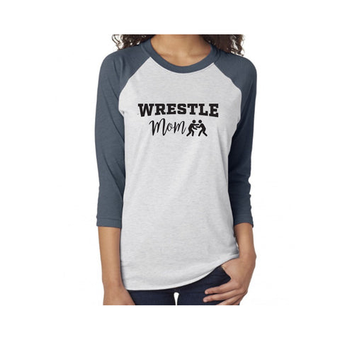 Wrestle Mom V2 Tri-Blend 3/4-Sleeve Tee