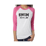 Swim Mom V2 Tri-Blend 3/4-Sleeve Tee