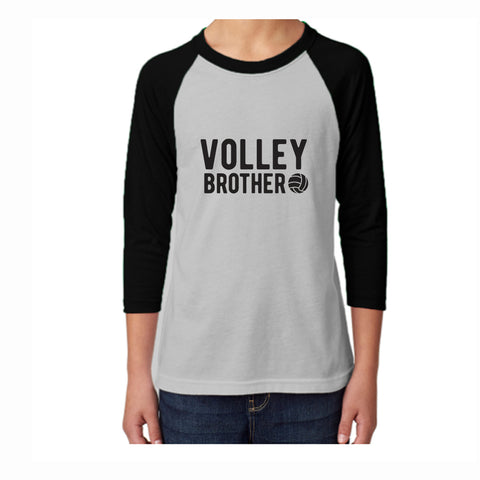 Volleyball Brother Youth 3/4 Sleeve Tee