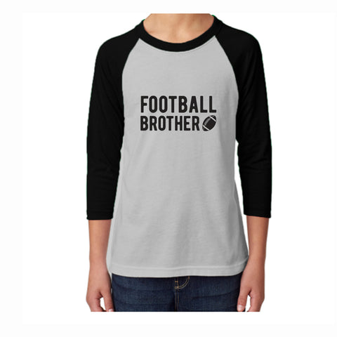 Football Brother Youth 3/4 Sleeve Tee