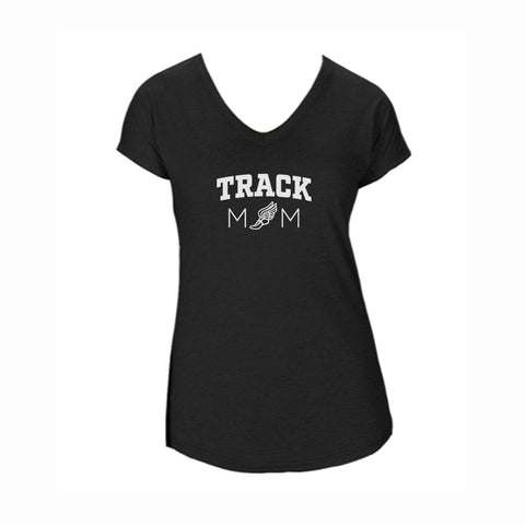 Track Mom V1 Triblend V-Neck Tee