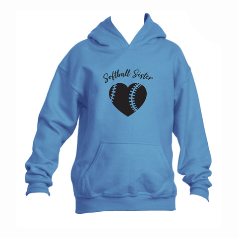 Softball Sister Youth 50/50 Hoodie