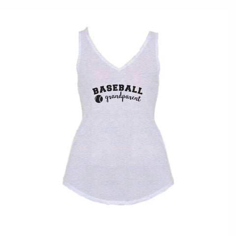 Baseball Grandparent Flowy V-Neck Tank