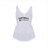 Footballl Grandparent Flowy V-Neck Tank