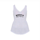 Wrestle Grandparent Flowy V-Neck Tank