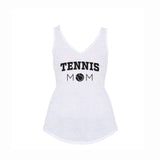 Tennis Mom V1 Flowy V-Neck Tank