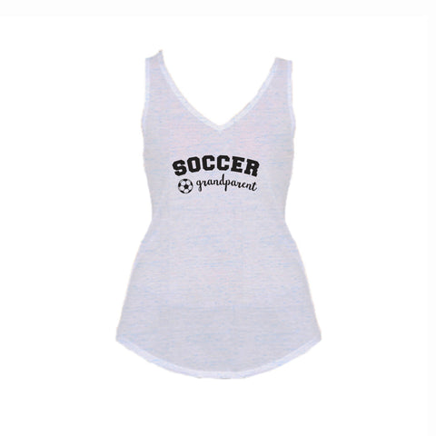 Soccer Grandparent Flowy V-Neck Tank