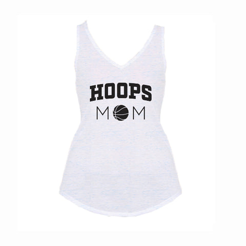 Hoops Mom V1 Flowy V-Neck Tank