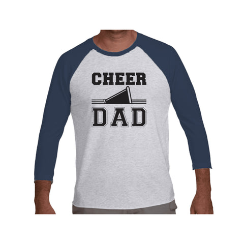Cheer Dad Tri-Blend 3/4-Sleeve Tee