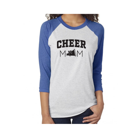 Cheer Mom V1 Tri-Blend 3/4-Sleeve Tee