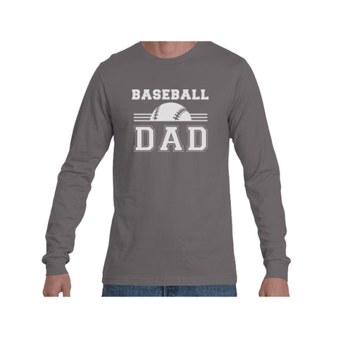 Baseball Dad Triblend Long Sleeve Tee