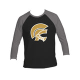 Gladiators Logo Tri-Blend 3/4-Sleeve Tee