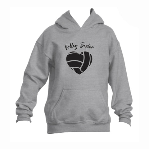 Volleyball Sister Youth 50/50 Hoodie